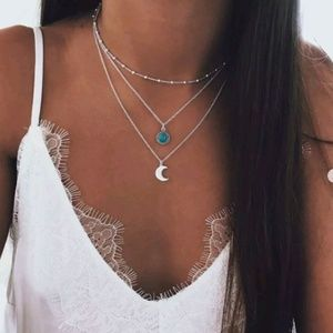 Jewelry - Boutique | Layered Moon Necklace